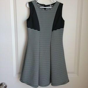 Other - Poof Girl Striped Black White Skater Dress